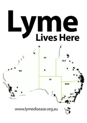 TMLP2015 - Lyme Lives Here (for coloured shirts)
