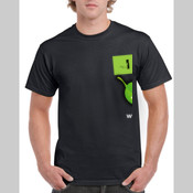 Men's 'Gildan' Regular Fit Sturdy Cotton T Shirt - I live life with a twist of Lyme