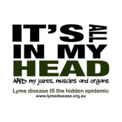 Lyme disease is in my head!