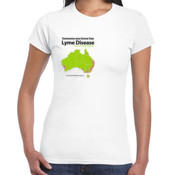 Women's 'Gildan' Slim T-Shirt - TMLP 2015 - Someone you know has Lyme disease