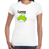 Women's 'Gildan' Slim T-Shirt - TMLP 2015 - Lyme lives here