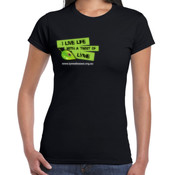 Women's 'Gildan' Slim T-Shirt - I live life with a twist of Lyme